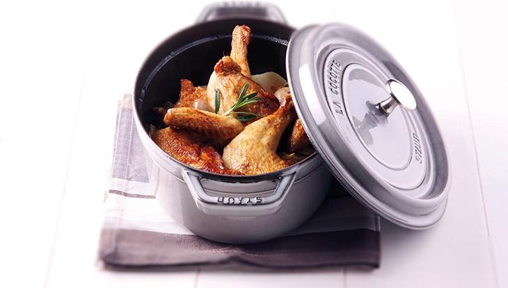 recette poulet cocotte en fonte